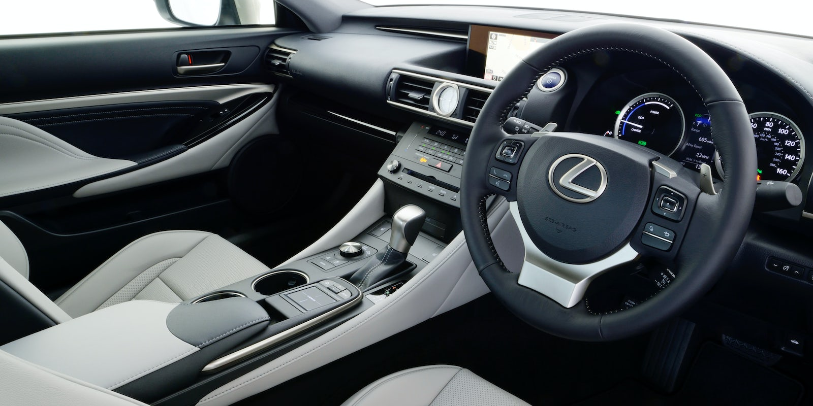 lexus rc interior and infotainment carwow. Black Bedroom Furniture Sets. Home Design Ideas