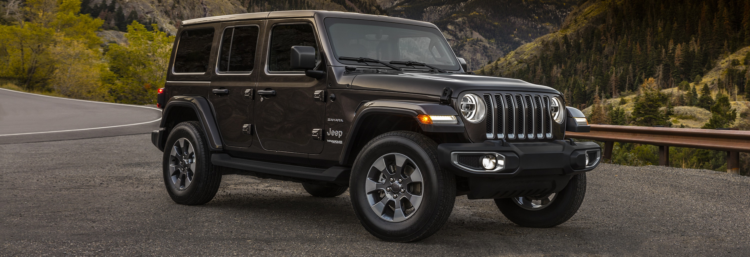 2018 jeep wrangler brown parked front