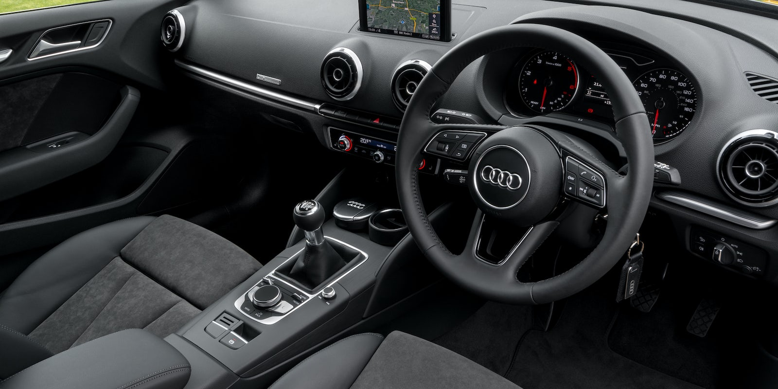 audi a3 saloon interior infotainment carwow
