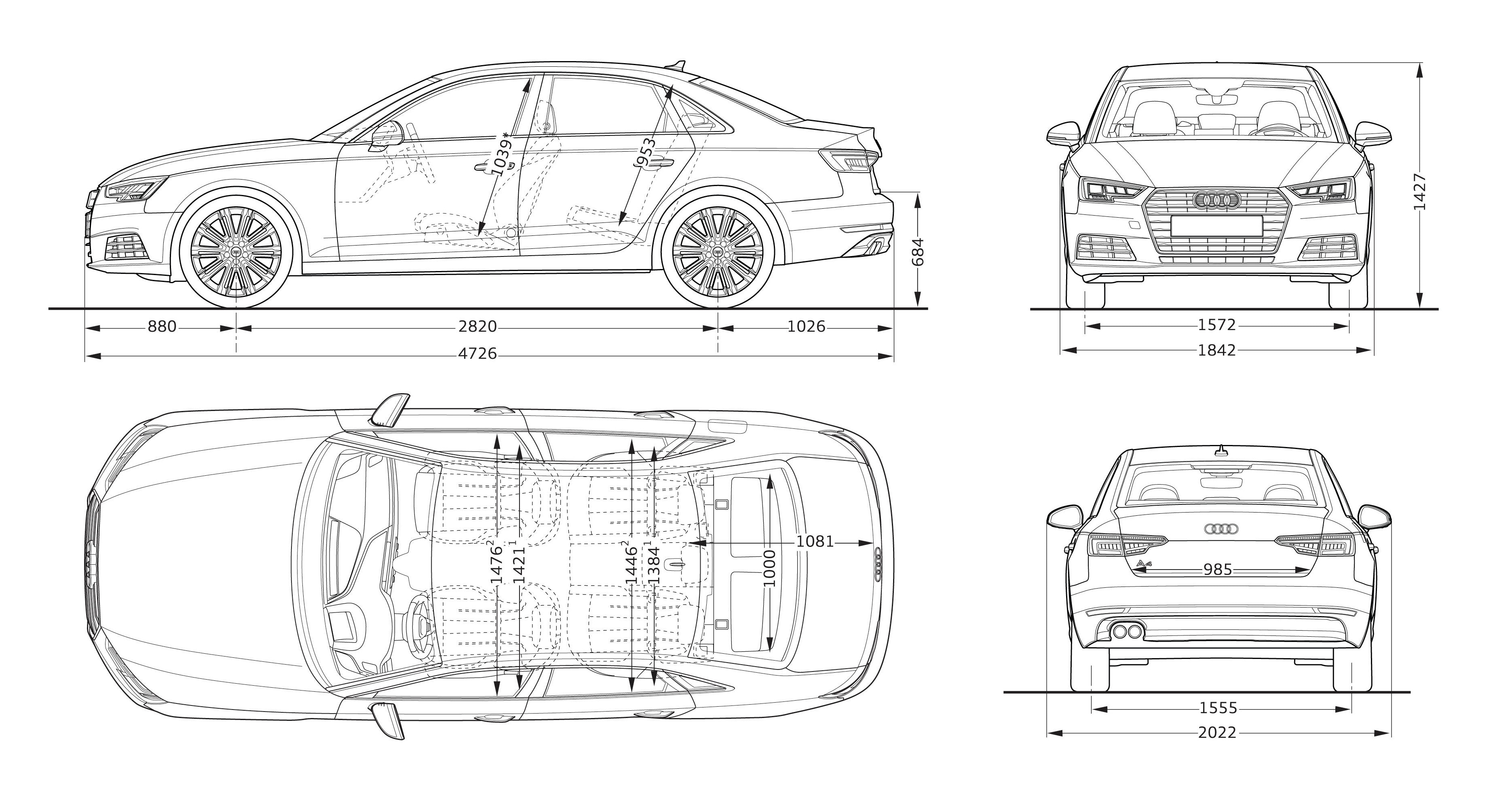 Audi A4 Sizes Dimensions Legroom Guide Carwow