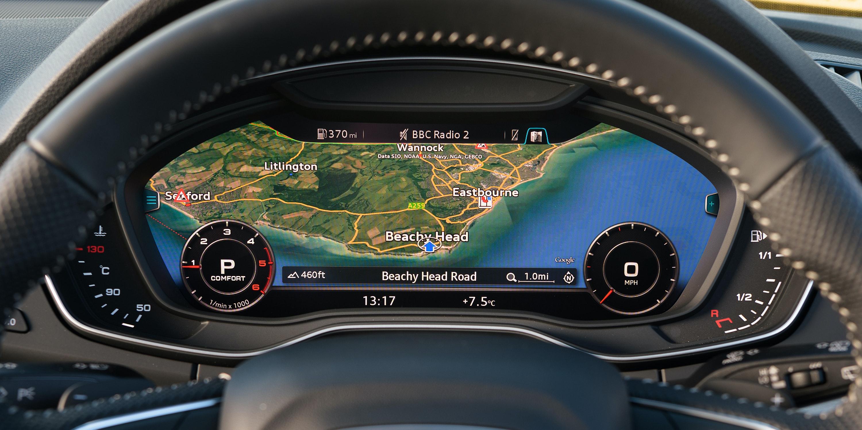 The Q5u0027s Virtual Cockpit Display Can Show A Giant Sat Nav Map