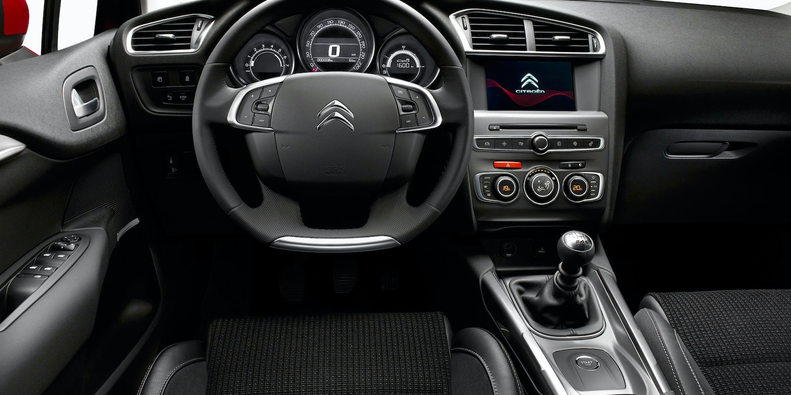 citroen c4 interior and infotainment carwow. Black Bedroom Furniture Sets. Home Design Ideas