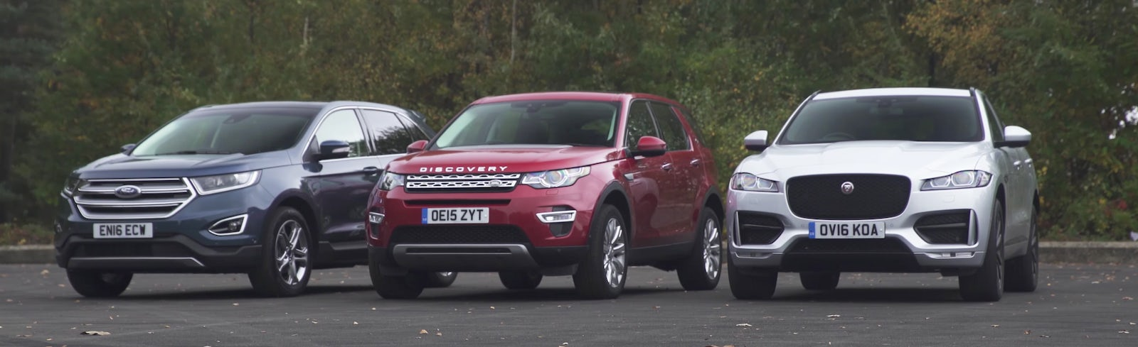 Which is best jaguar f pace land rover discovery sport ford edge all models come with leather upholstery with heated front seats a range of driver aids climate control bluetooth connectivity and dab digital radio publicscrutiny Gallery