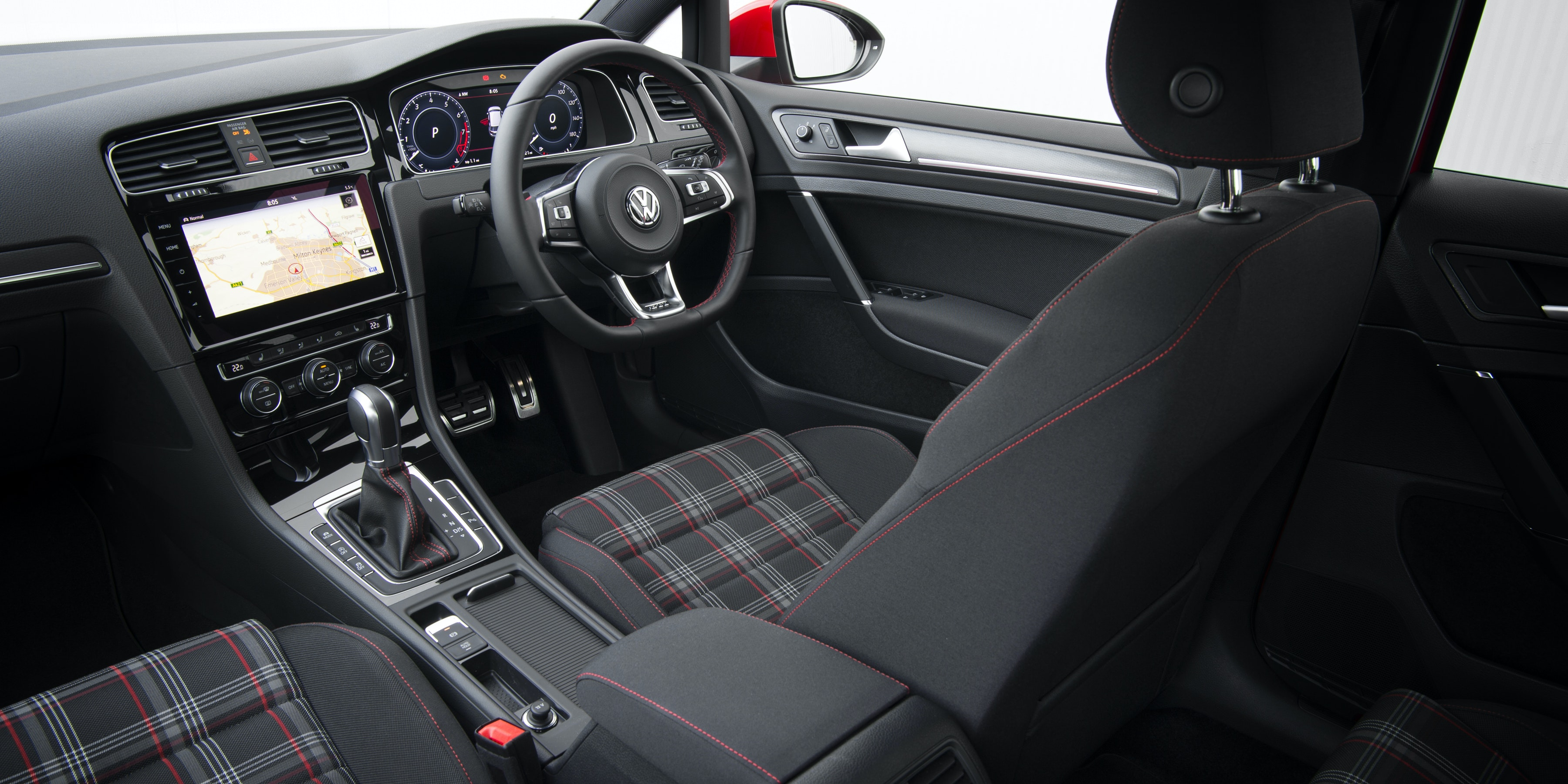Tartan Seats And Red Stitching Are Classic Golf GTI Features