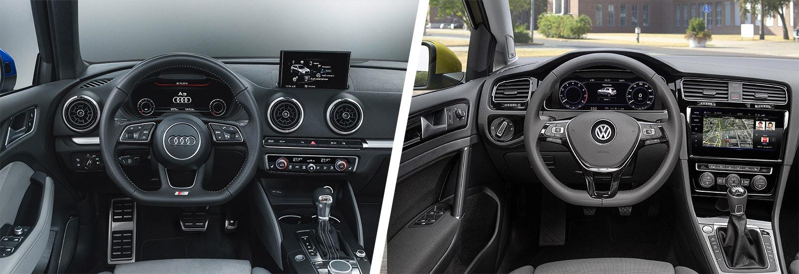 Audi A3 Vs VW Golf U2013 Side By Side Comparison | Carwow