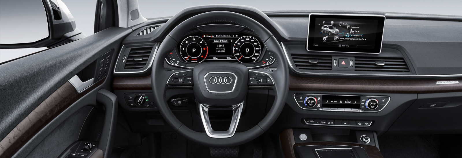 audi q 3 2018. fine 2018 elements from the q5u0027s dashboard shown here should find their way to  new q3 inside audi q 3 2018
