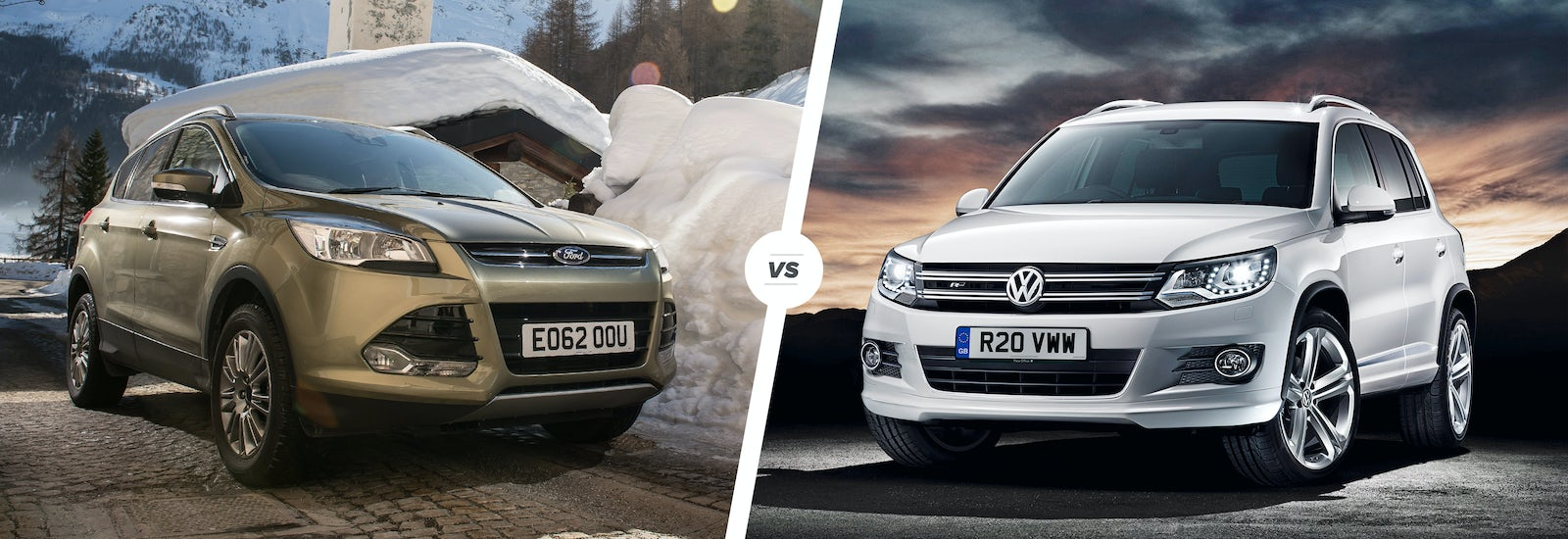 Ford Kuga Vs Vw Tiguan Crossovers Compared Carwow 2014 Focus Stereo Upgrade Volkswagen Compact