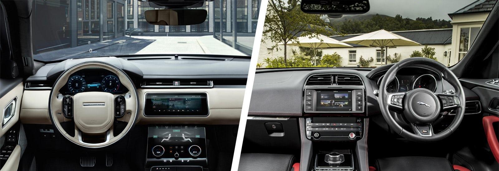 Range rover velar vs jaguar f pace suv comparison carwow for Interior range rover velar