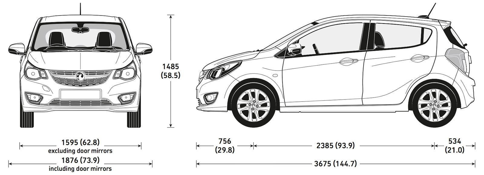 Rb Car Company >> Vauxhall Viva sizes and dimensions guide | carwow